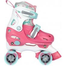 Nijdam Roller Skates Junior Adjustable Hard Boot Disco Twirl 52QN-RWB