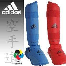 Karate Shin Instep Guard Adidas Official WKF Approved