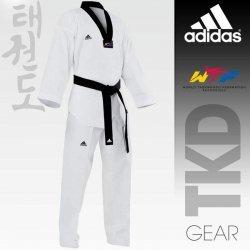 Taekwondo Uniform adidas - CHAMPION III Black Collar